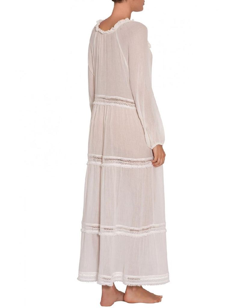 Eberjey Summer of Love Emery Cover Up Long Dress - Cloud - Styleartist