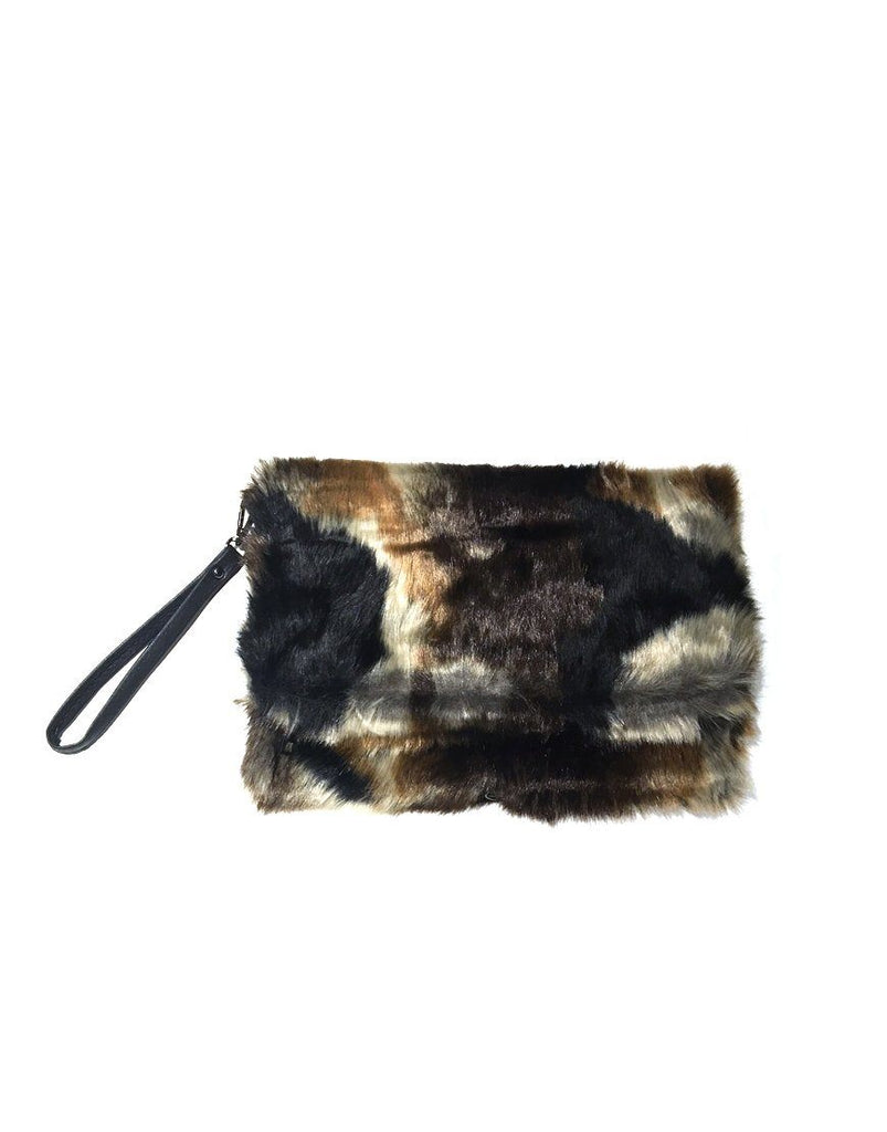 Faux Fur Chain Clutch - Styleartist