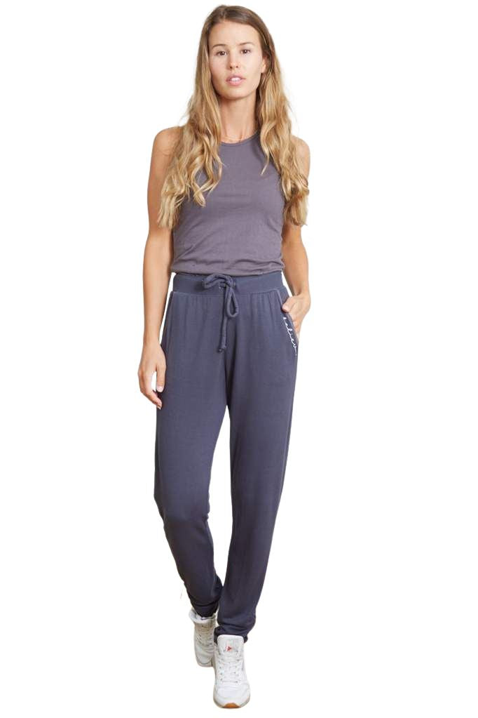 Good Hyouman Beauty Ruched Sweatpant Believe- India Ink - Styleartist