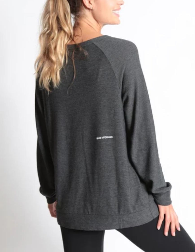 Good Hyouman Dave F#@k Cancer Crew Neck Sweater - Black Sand - Styleartist