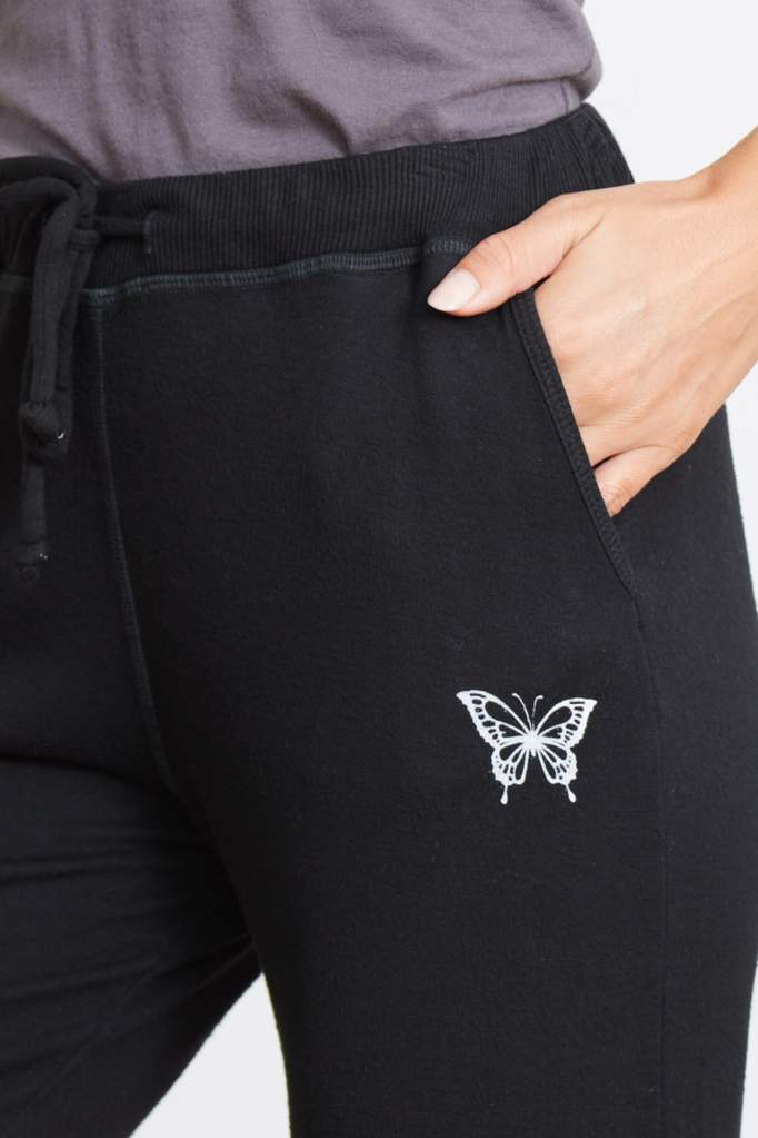 Good Hyouman Gigi Butterfly Jogger- Black Subtle Ombre - Styleartist