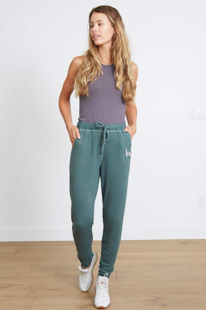 Good Hyouman Gigi Jogger Retro Love- Laurel Wreath Green - Styleartist