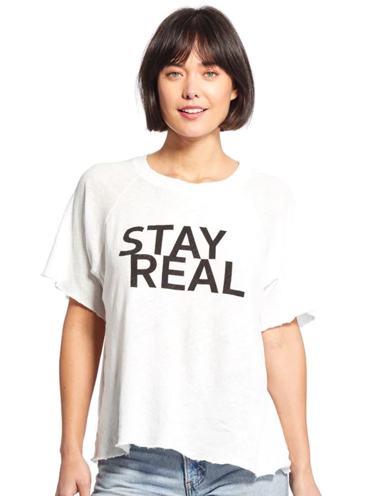 Good Hyouman Rowan Tee Stay Real- Optic White - Styleartist