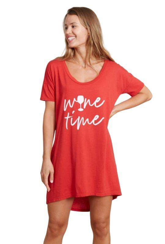 Good Hyouman The Margot Wine Time Tee - Red - Styleartist