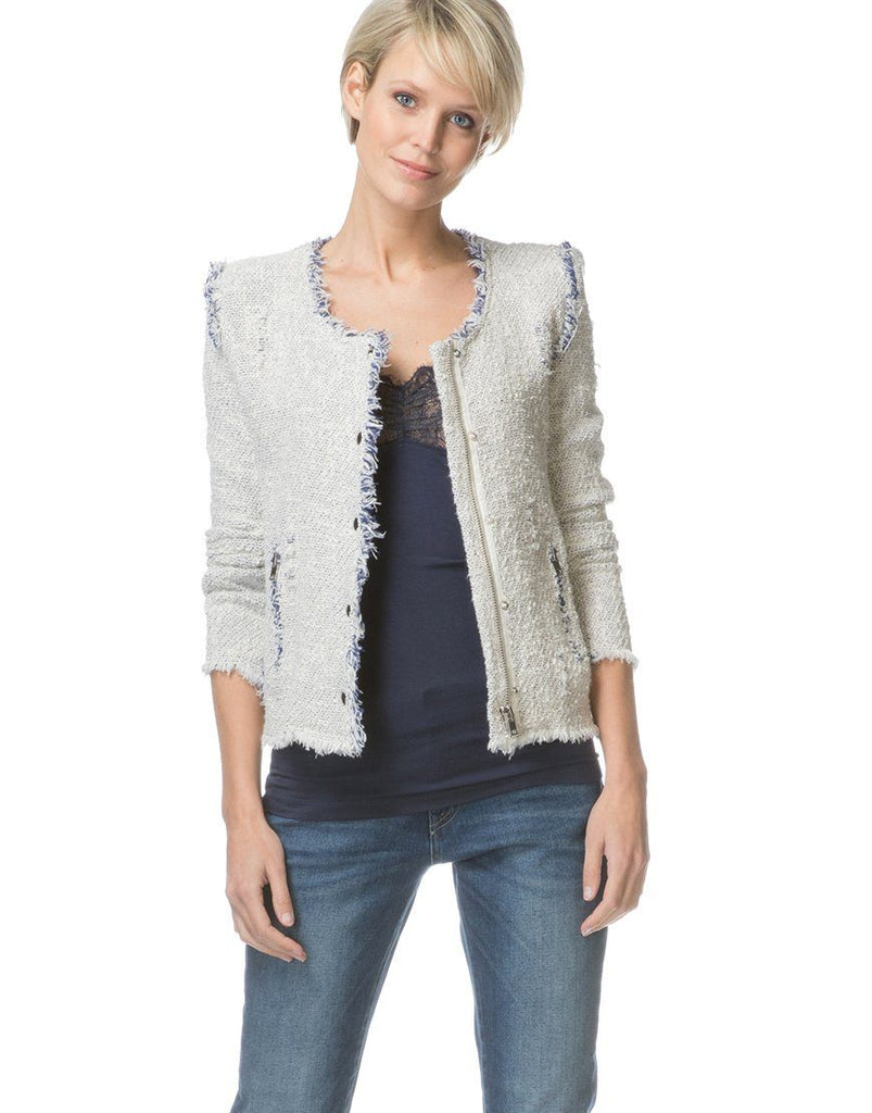 Iro Collarless Tweed Agnette Jacket - Styleartist