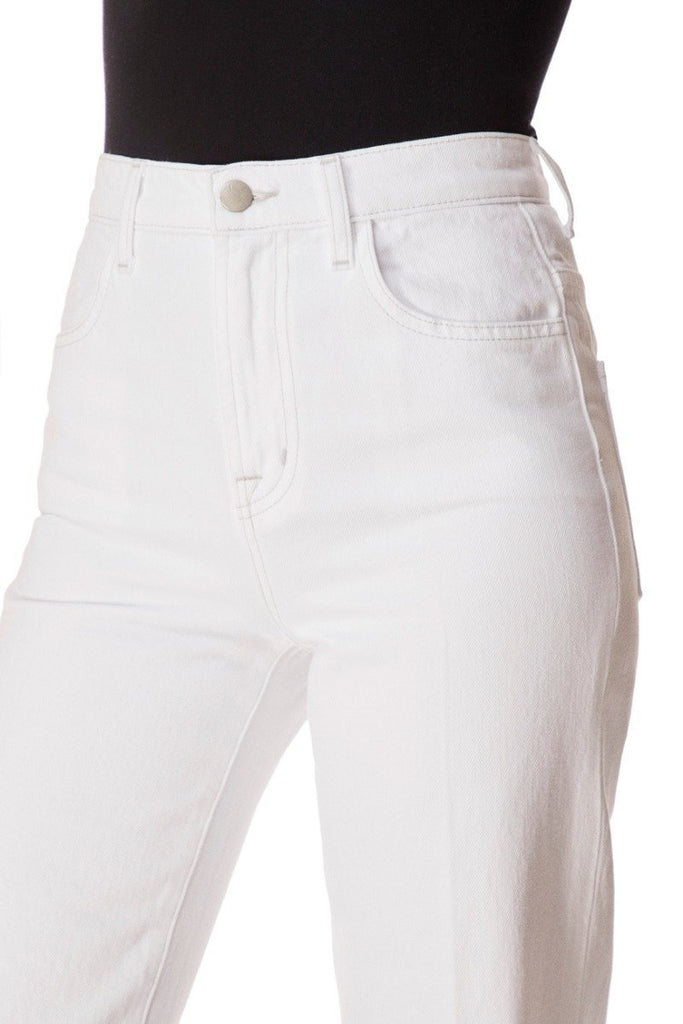 J Brand Joan High Rise Wide Leg Jean in White - Styleartist
