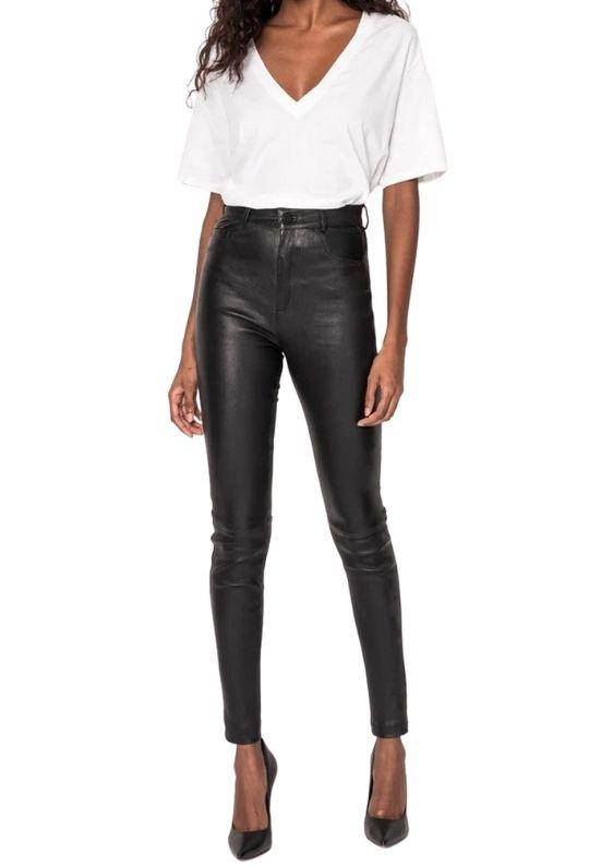 La Marque Esme Stretch Leather Jeans - Styleartist