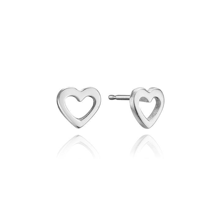 Lafia Jewellery Mini Open Heart Stud - Styleartist