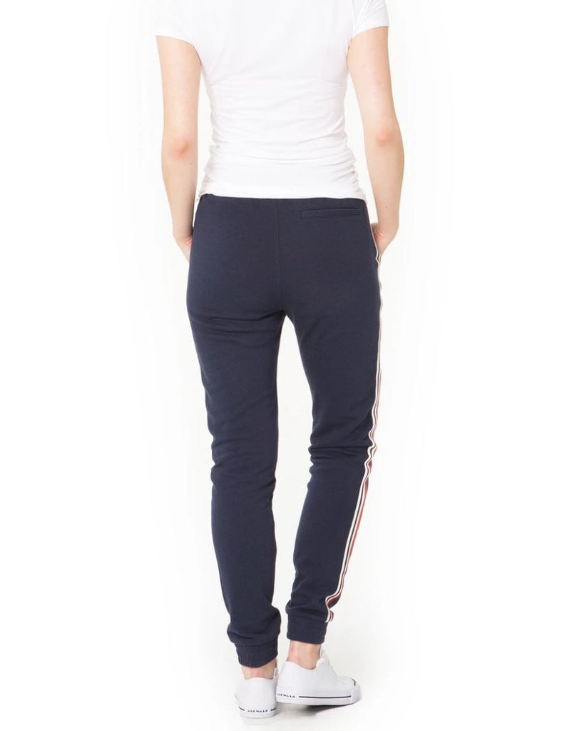 Lazypants Lucas Striped Jogger - Navy - Styleartist