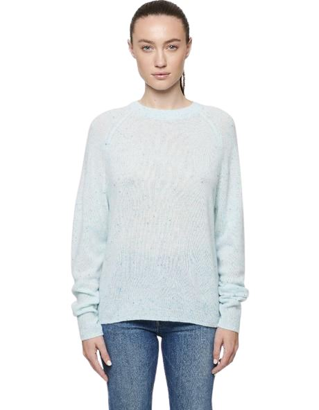 Line Seville Cashmere Crew Neck Sweater - Clearwater Blue - Styleartist