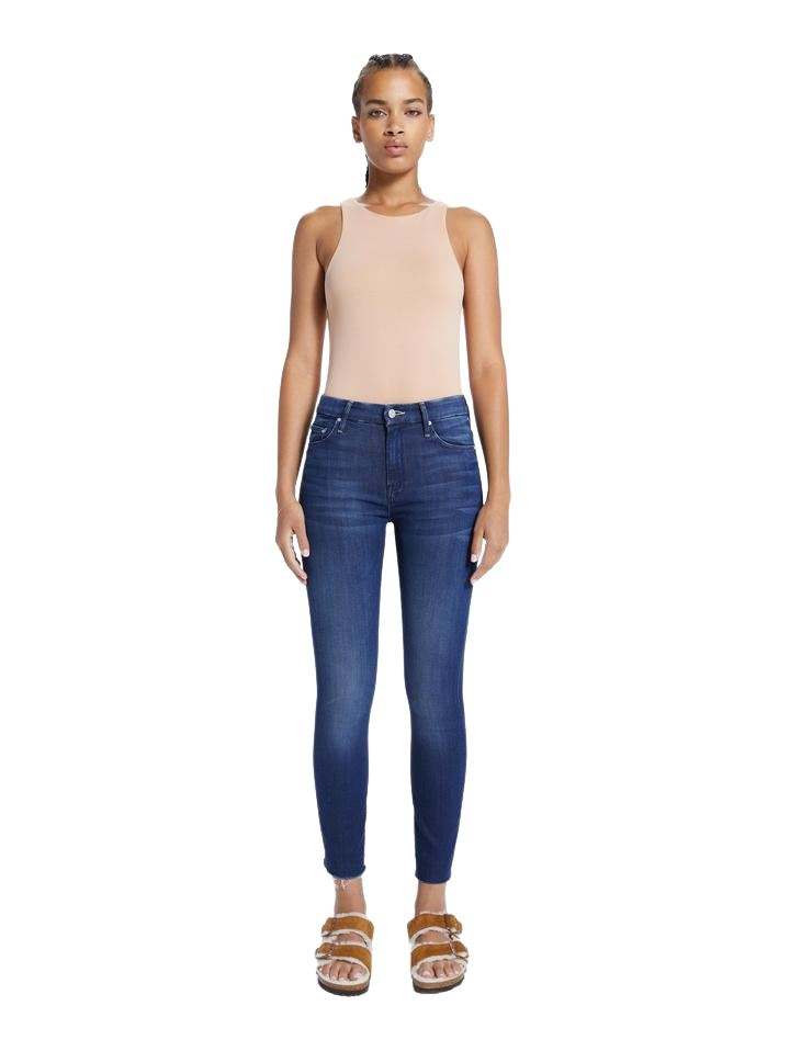 Mother Denim High Waisted Looker Ankle Fray- Tongue in Chic - Styleartist