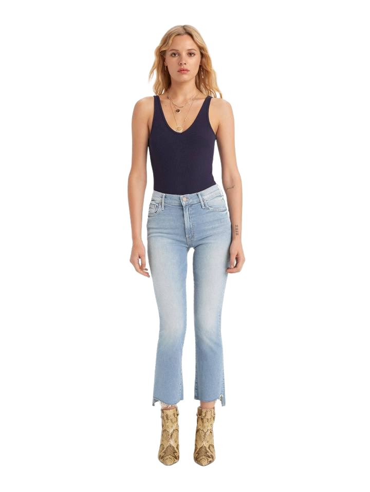 Mother Denim Insider Crop Step Fray - Fresh Catch - Styleartist