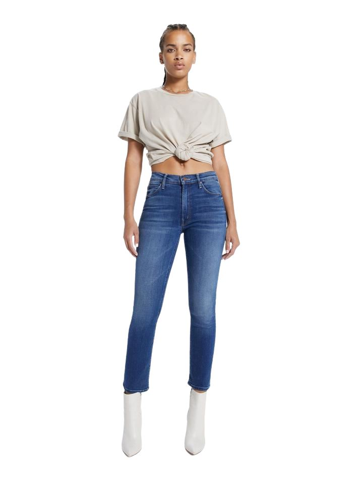 Mother Denim Mid Rise Dazzler Ankle - Sweet and Sassy - Styleartist