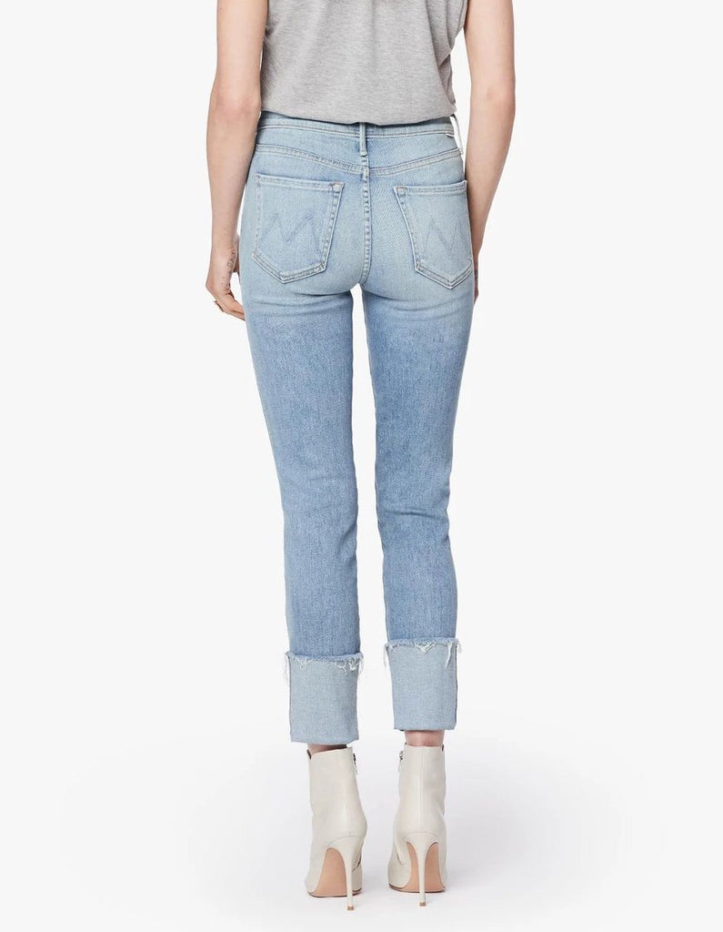 Mother Denim Pony Boy Ankle Fray- Mapping It Out - Styleartist