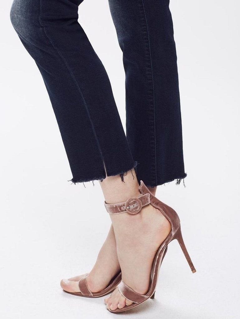 Mother Denim Rascal Ankle Snippet- Coffee, Tea, Or Me? Dark Blue Wash - Styleartist