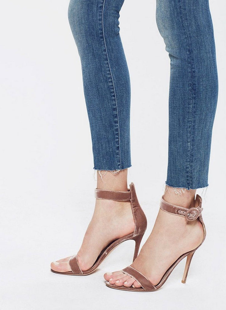 Mother Denim- Stunner Ankle Fray- Blue Distressed Wash - Styleartist