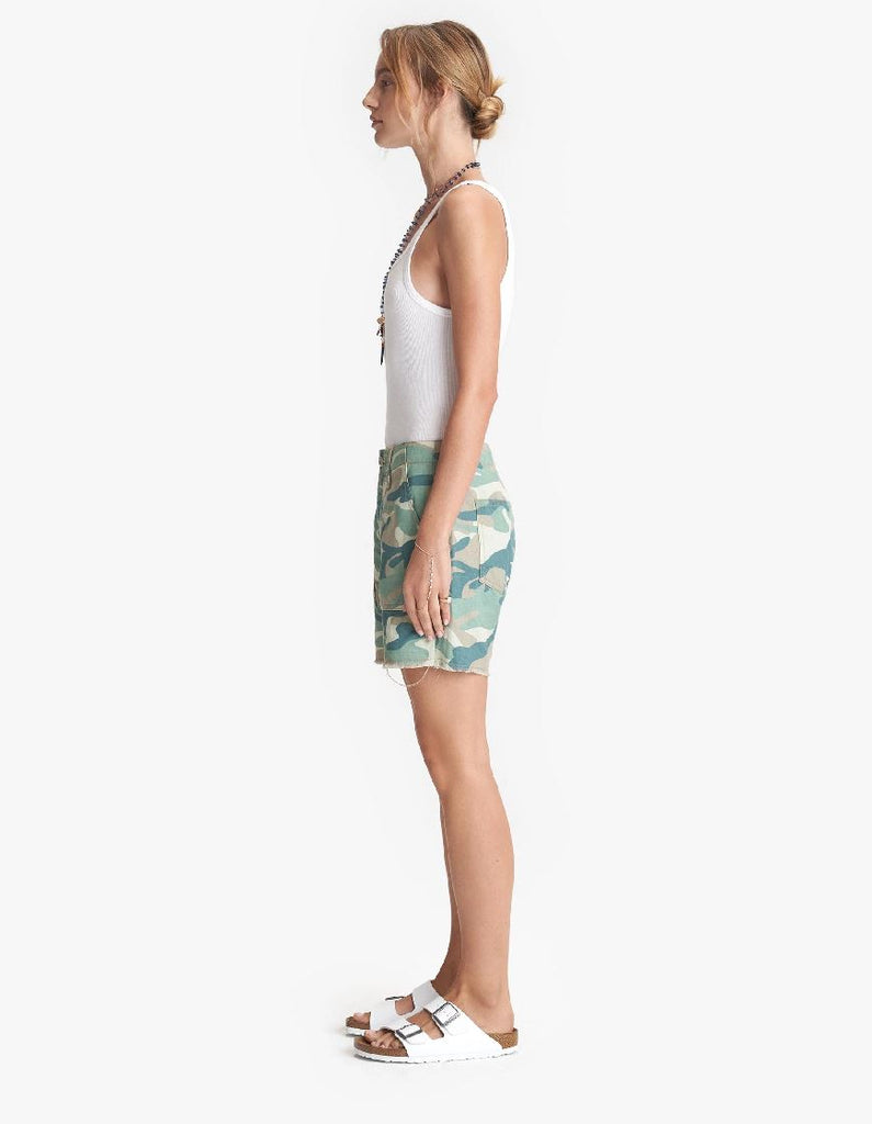 Mother Denim The Shaker Chop Short - Blue Green Camo - Styleartist