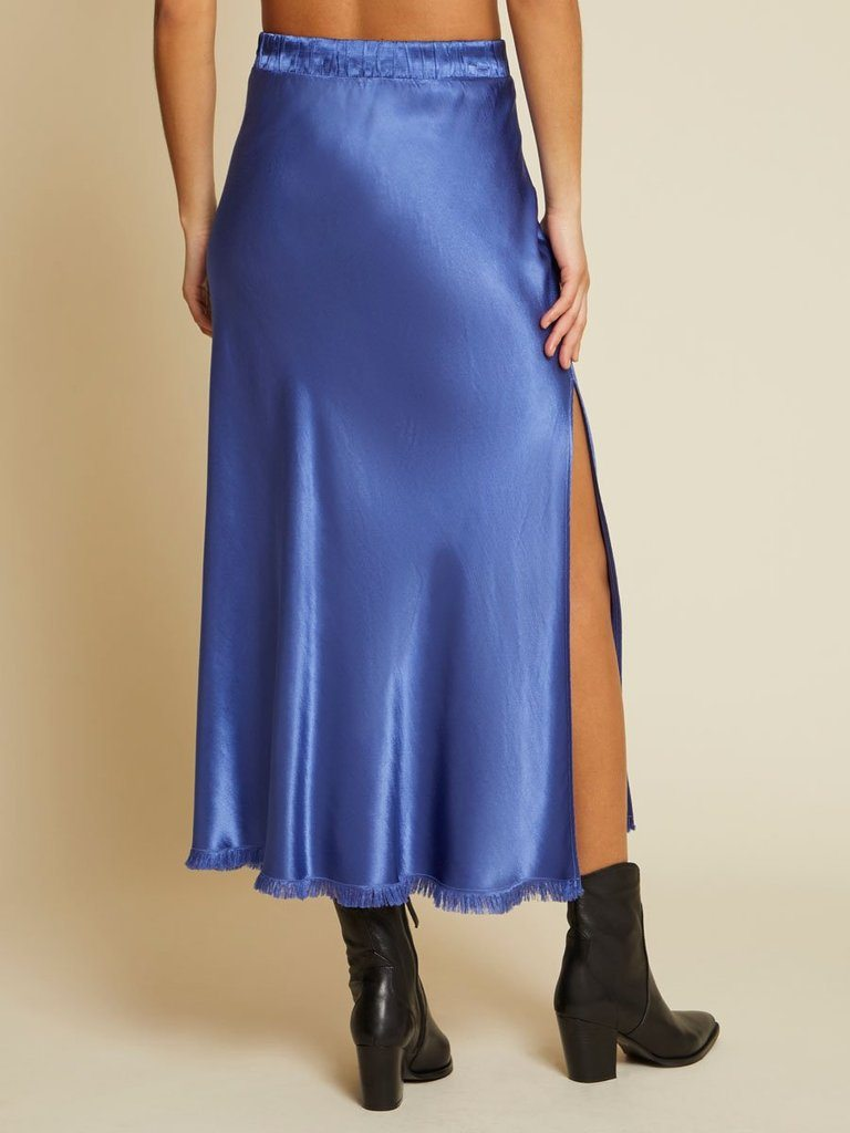 Nation Maribel Bias Skirt With Slit - Periwinkle - Styleartist
