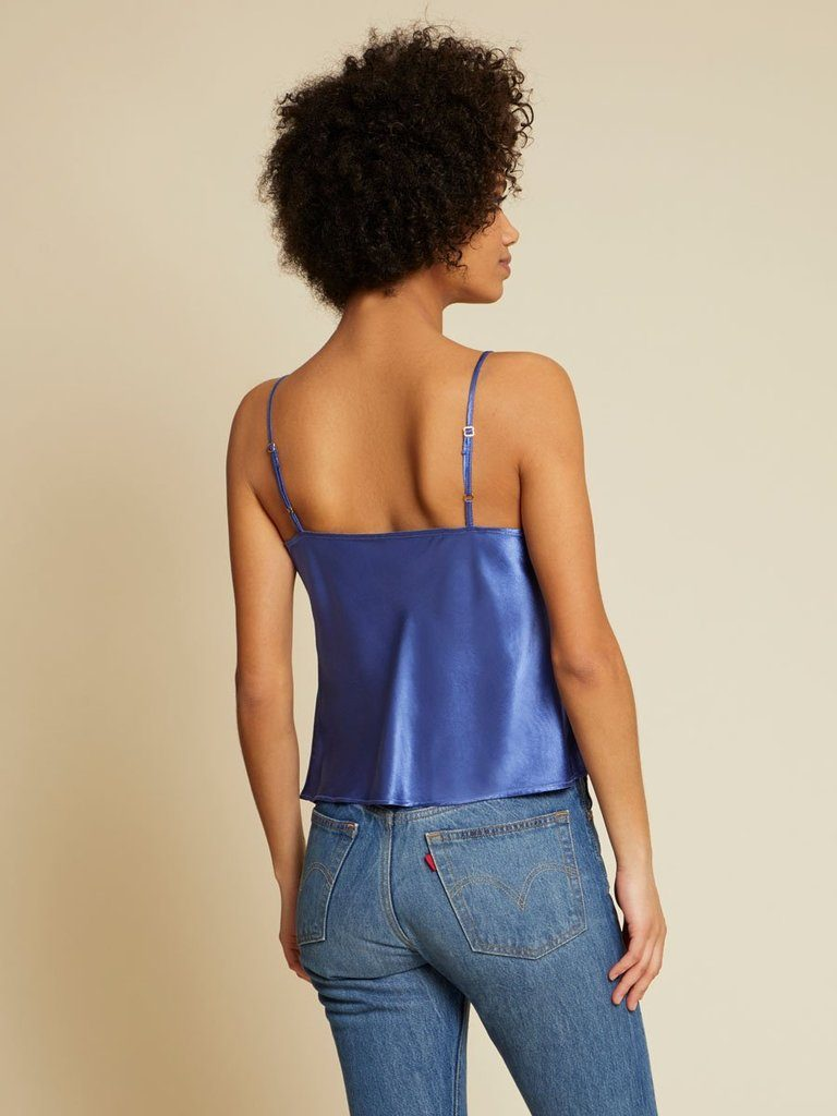 Nation Maxine Draped Neck Cami - Periwinkle - Styleartist