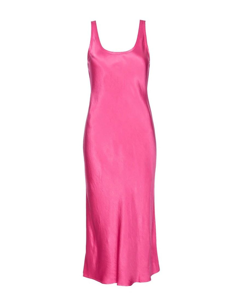 Nation Samantha Bias Cut Tank Dress - Bubblegum - Styleartist