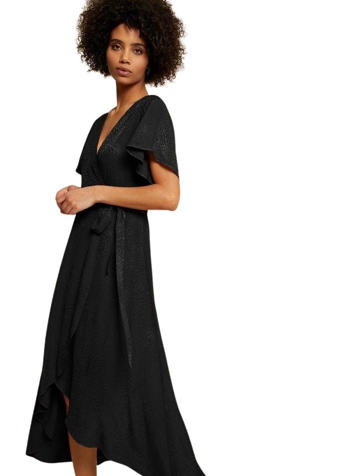 Nation Trista Easy Wrap Dress - Black - Styleartist