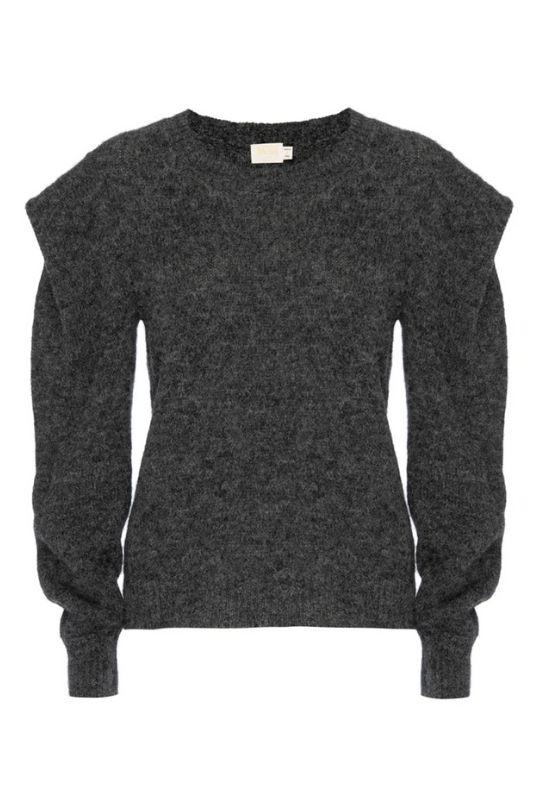 Nation Vicki Bold Shoulder Sweater - Charcoal - Styleartist