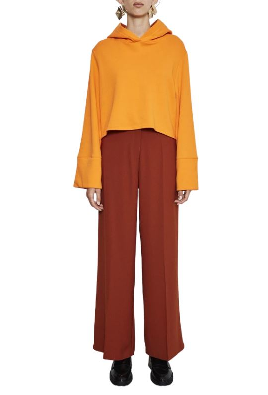 Notes Du Nord Oliana High-Rise Wide Leg Pants - Burnt Orange - Styleartist