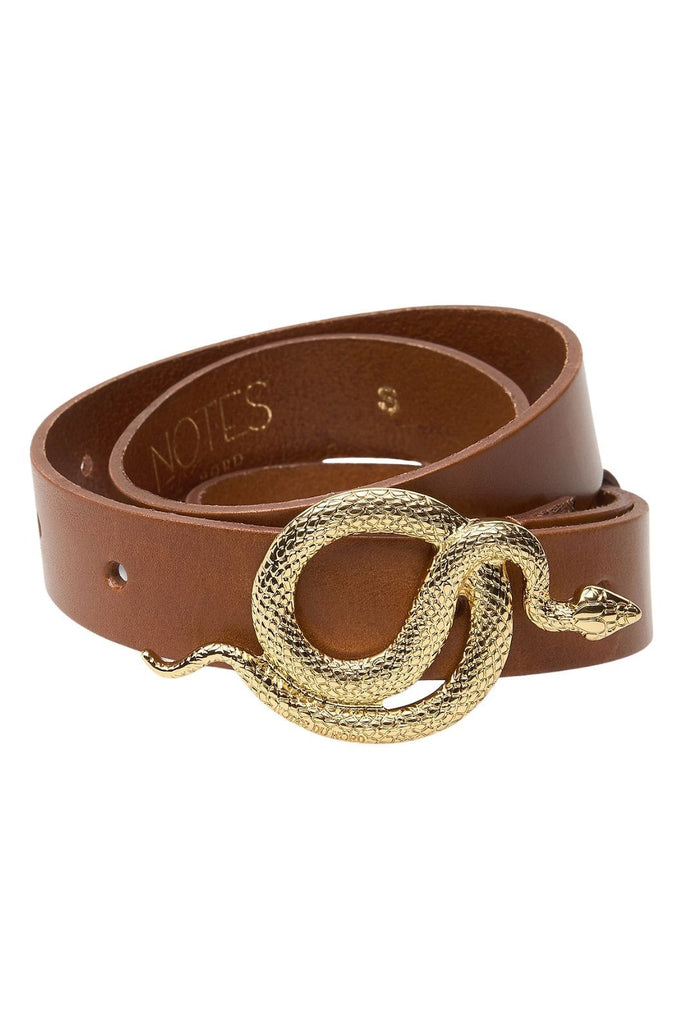 Notes Du Nord Paxton Leather Belt - Cognac Gold - Styleartist