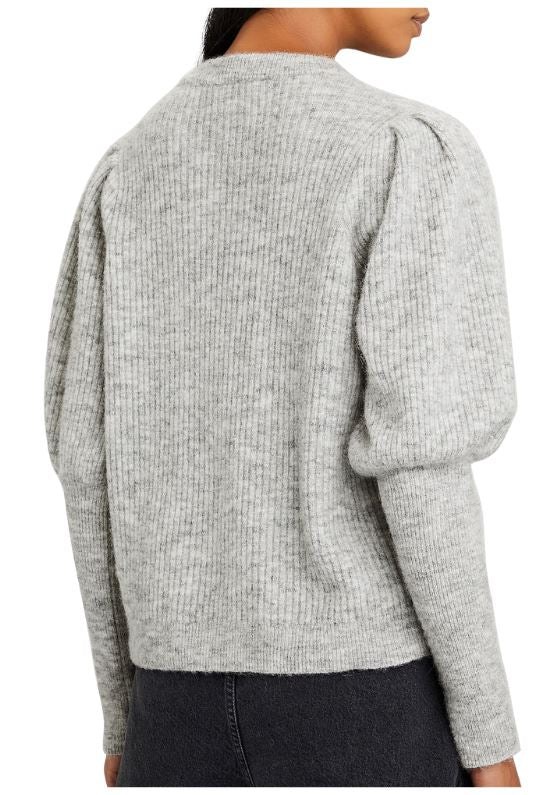 Notes Du Nord Rhonda Bishop Sleeve Sweater - Grey - Styleartist