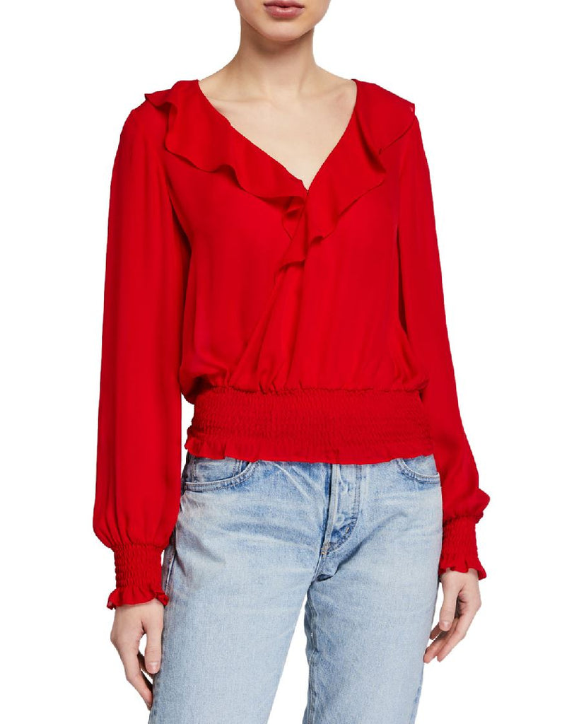 Parker Quincy Blouse - Monaco Red - Styleartist