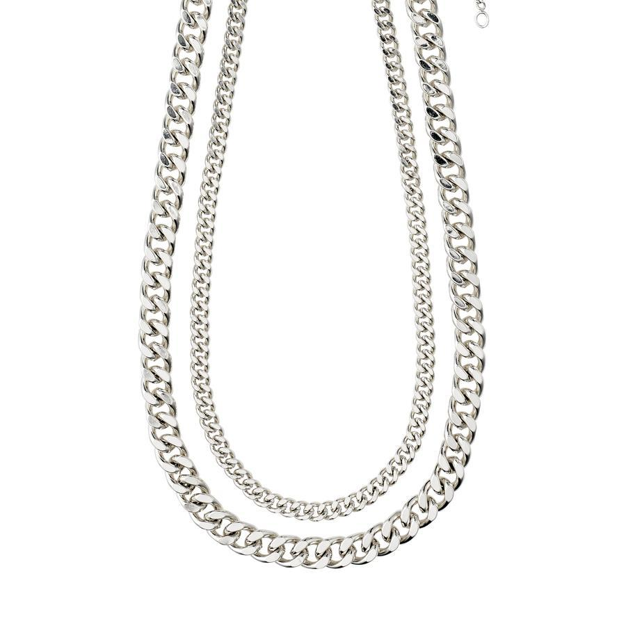 Pilgrim Chain Necklace Water 2-in-1 Set - Silver Plated - Styleartist