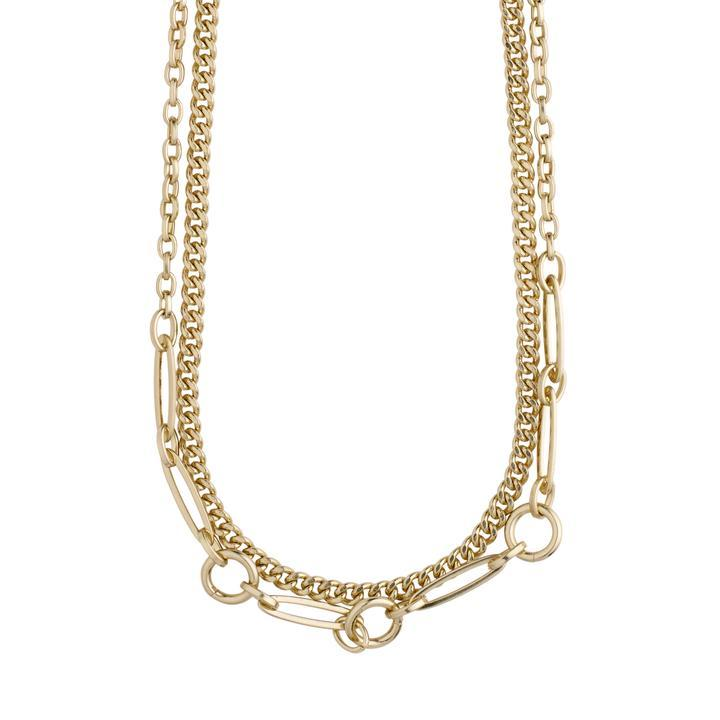 Pilgrim Gold Sensitivity 2-in-1 Chain Necklace - Gold Plated - Styleartist