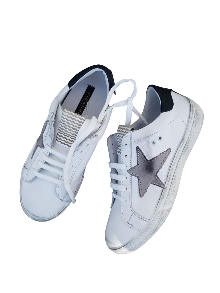 Piranha Star Sneaker - White with Grey Star - Styleartist