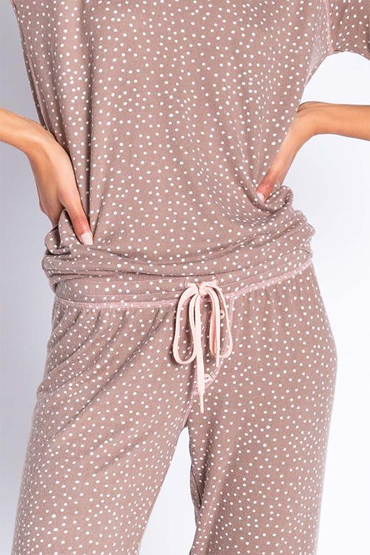 PJ Salvage Dollie Dot Jammy Pant - Cocoa - Styleartist