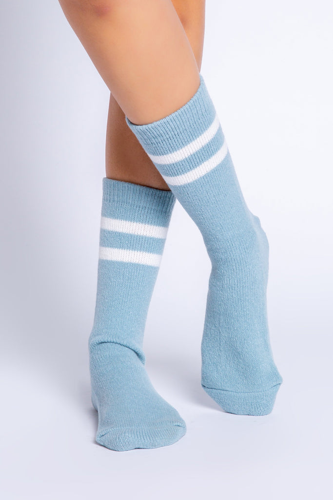 PJ Salvage Fun Socks Ski You Later- Ice Blue - Styleartist