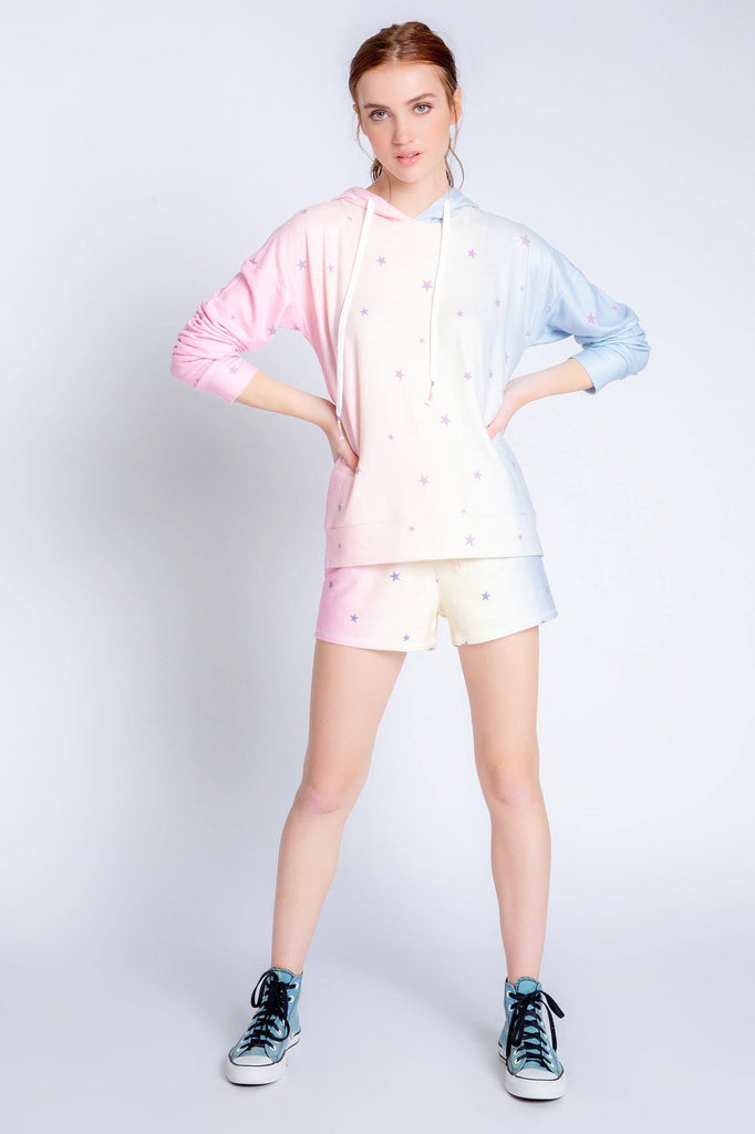 PJ Salvage Peachy Party Stars Hoodie- Multi Colours - Styleartist
