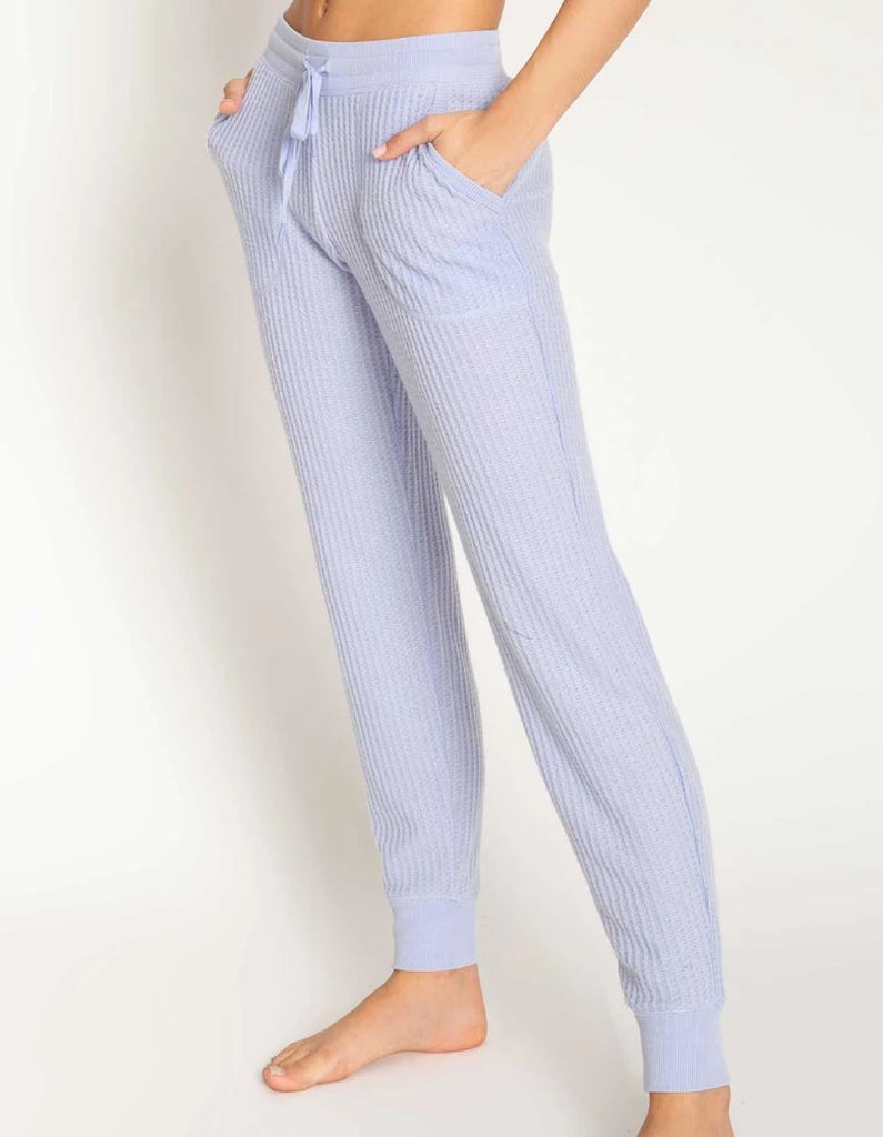 PJ Salvage Peachy Waffle Fabric Banded Pant- Lavender - Styleartist