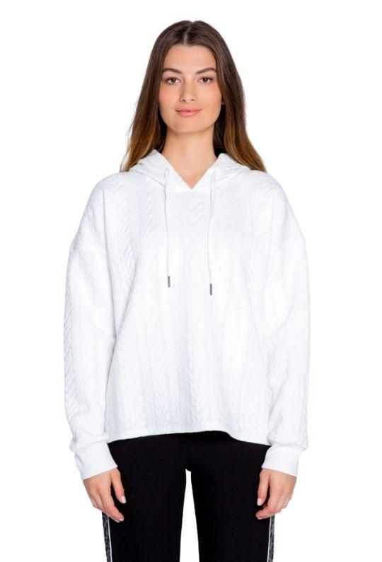 PJ Salvage Run Wild Quilted Hoodie - Ivory - Styleartist