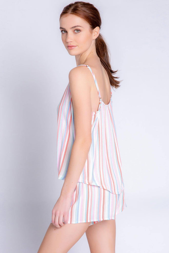 PJ Salvage Saturday Morning Stripe Tank- Multi Coloured - Styleartist