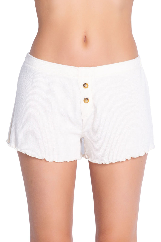 PJ Salvage Textured Basics Solid Short- Stone - Styleartist