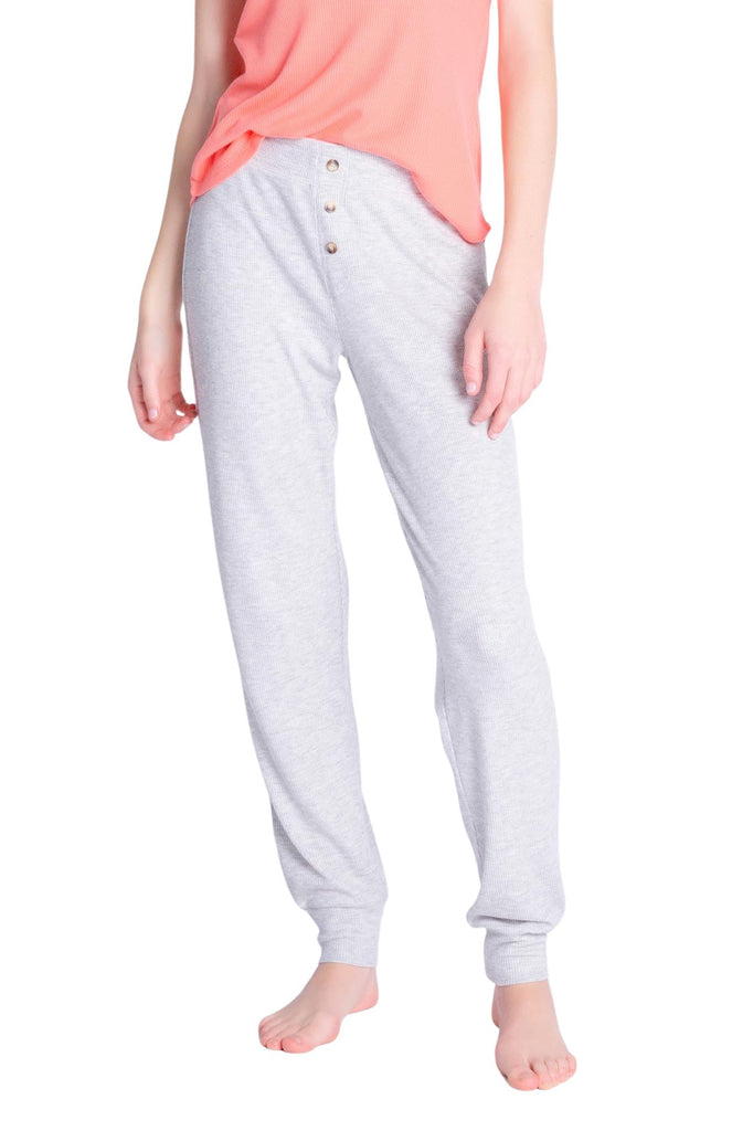 PJ Salvage Textured Lounge Solid Jammie Pant- Heather Grey