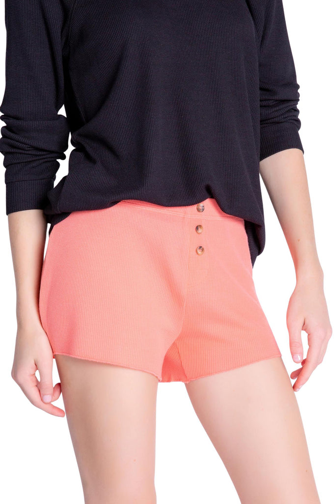 PJ Salvage Textured Lounge Solid Short- Coral