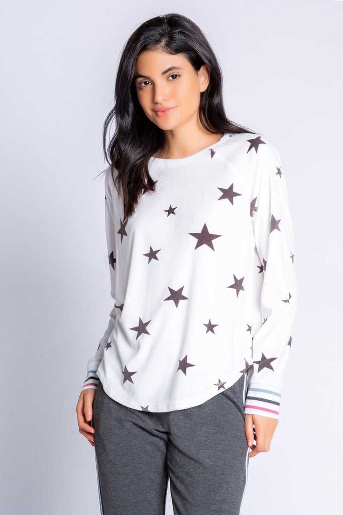 PJ Salvage Wishin' on a Star Long Sleeve Top - Ivory - Styleartist