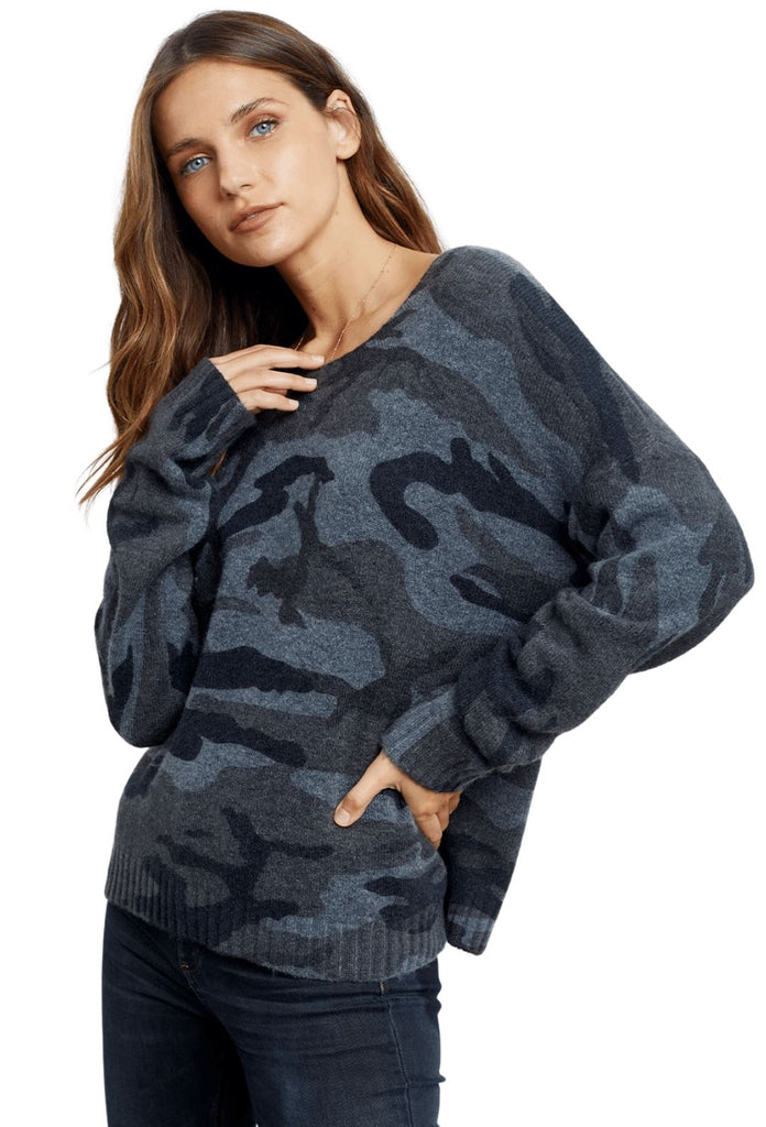 Rails Louie Cashmere Blend Sweater - Charcoal Camo - Styleartist