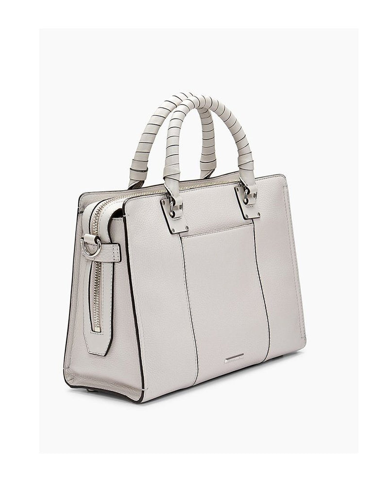 Rebecca Minkoff Bree Top Zip Satchel- Putty - Styleartist