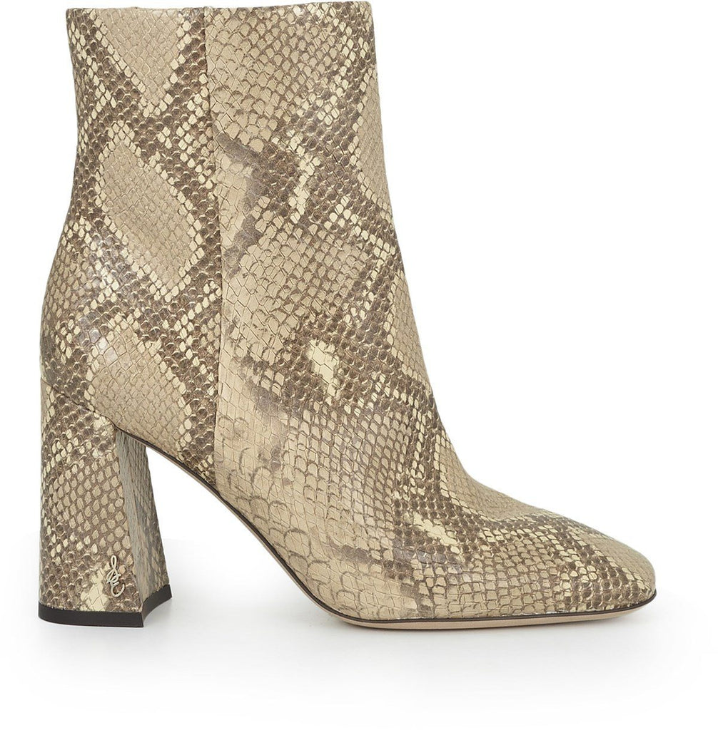 Sam Edelman Codie Leather Ankle Boot - Wheat Exotic Snake Print - Styleartist
