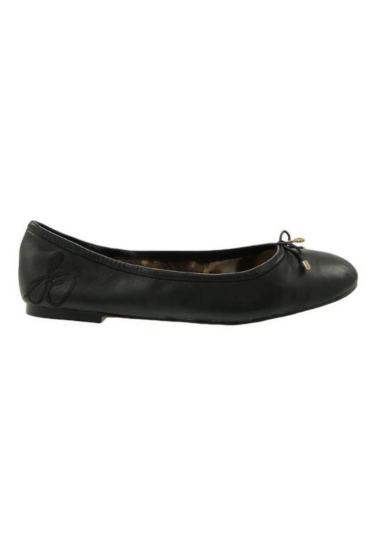 Sam Edelman Felicia Ballet Flat- Black Smooth Leather - Styleartist