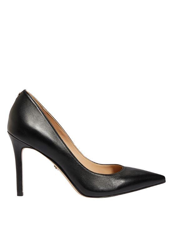 Sam Edelman Hazel Taper Toe Heeled Pump - Black Leather - Styleartist