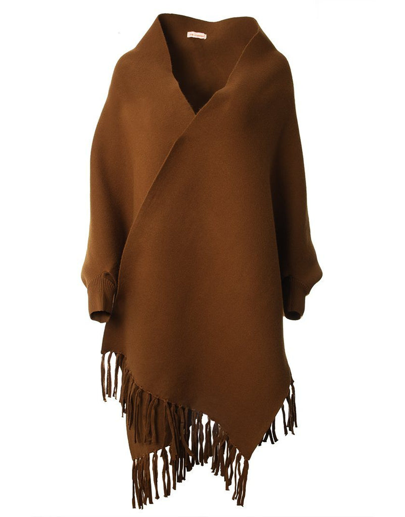 Shawl with Sleeves- Rust - Styleartist