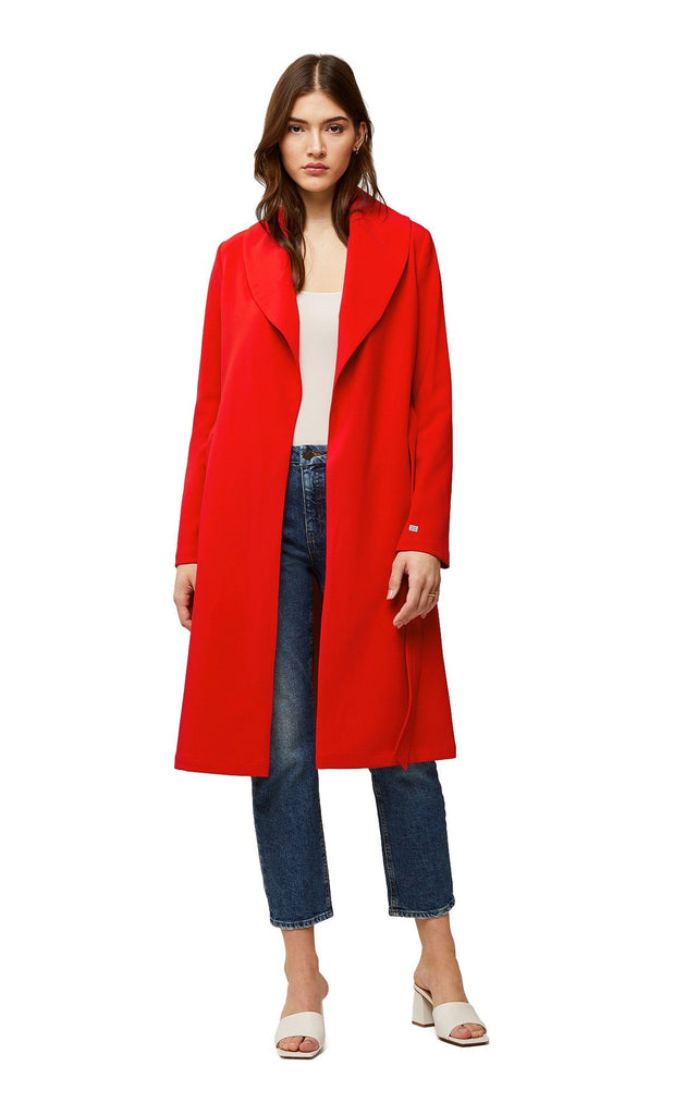 Soia & Kyo Lexie Trench Coat with Shawl Collar- Cayenne - Styleartist